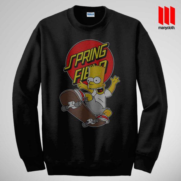 Bart Simpsons Santacrus Skateboarding Black Sweatshirt 600x600 The Simpsons Skateboarding Sweatshirt