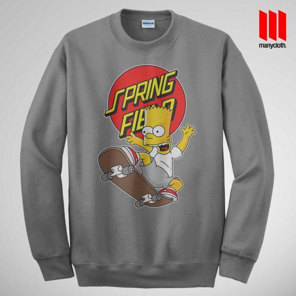 Bart Simpsons Santacrus Skateboarding Grey Sweatshirt 600x600 The Simpsons Skateboarding Sweatshirt