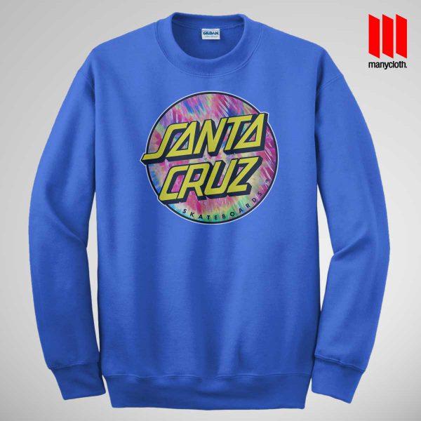 Santacruz Tie Die Blue Sweatshirt 600x600 Santacruz Tie Dye Sweatshirt