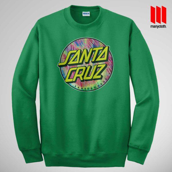 Santacruz Tie Die Green Sweatshirt 600x600 Santacruz Tie Dye Sweatshirt