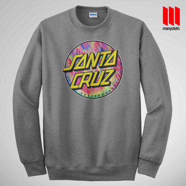 Santacruz Tie Die Grey Sweatshirt 600x600 Santacruz Tie Dye Sweatshirt