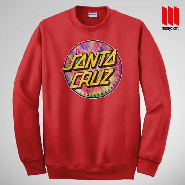 Santacruz Tie Die Red Sweatshirt 600x600 Santacruz Tie Dye Sweatshirt