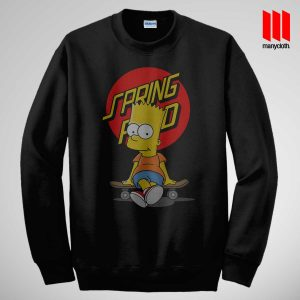 Bart The Springfield Skateboarder Sweatshirt is the best and cheap designs clothing for gift