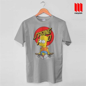 Bart The Springfield Skateboarder T Shirt is the best and cheap designs clothing for gift