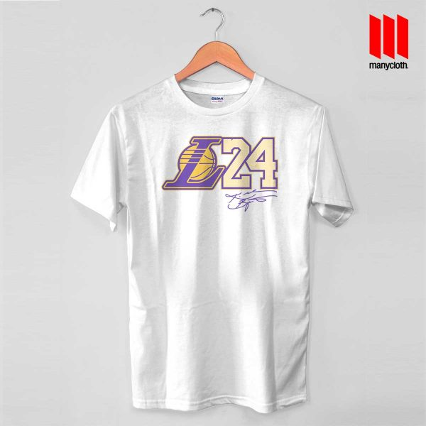 Coolest Kobe L24 T Shirt is the best and cheap designs clothing for gift