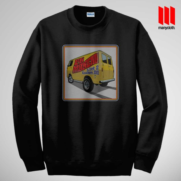 Fu Manchu Boogey Van Live At Roadburn Black Sweatshirt 600x600 Fu Manchu Boogie Van Band Sweatshirt