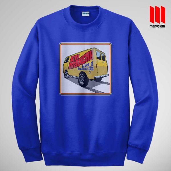 Fu Manchu Boogey Van Live At Roadburn Blue Sweatshirt 600x600 Fu Manchu Boogie Van Band Sweatshirt