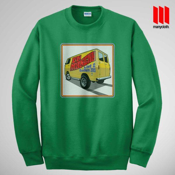 Fu Manchu Boogey Van Live At Roadburn Green Sweatshirt 600x600 Fu Manchu Boogie Van Band Sweatshirt