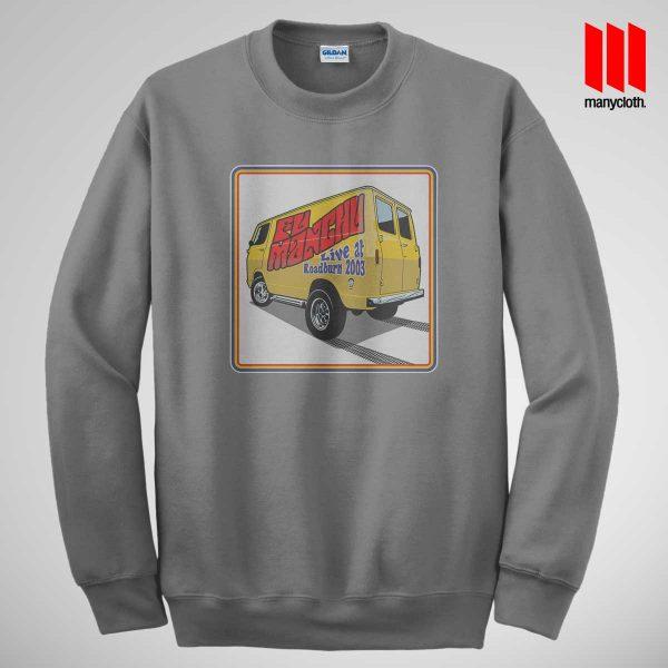 Fu Manchu Boogey Van Live At Roadburn Grey Sweatshirt 600x600 Fu Manchu Boogie Van Band Sweatshirt