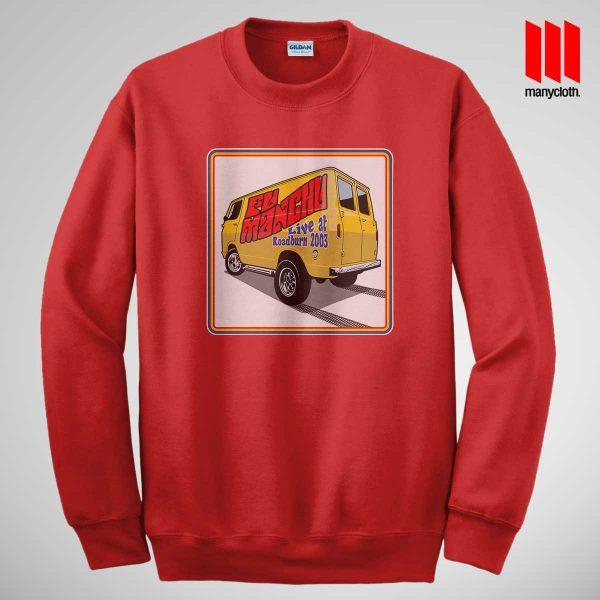 Fu Manchu Boogey Van Live At Roadburn Red Sweatshirt 600x600 Fu Manchu Boogie Van Band Sweatshirt