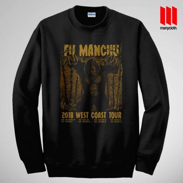 Fu Manchu West Coast Tour Black Sweatshirt 600x600 Fu Manchu West Coast Tour Sweatshirt