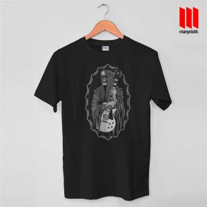 Grim Reaper Guitarist T Shirt is the best and cheap designs clothing for gift