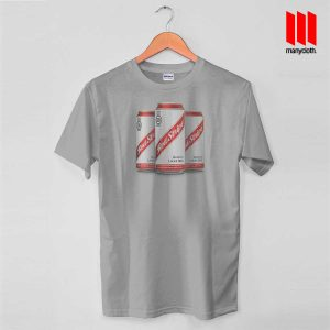 Red Stripe Canned T Shirt is the best and cheap designs clothing for gift