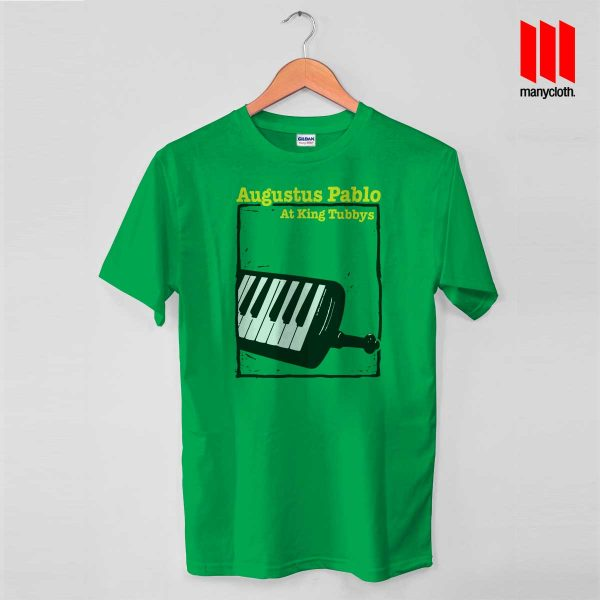 Augustus At King Green T Shirt 600x600 Augustus Pablo At King T Shirt