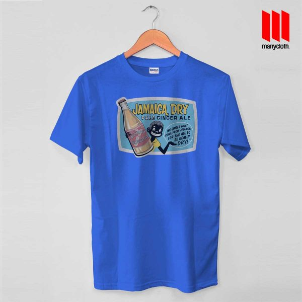 Jamaica Dry Ginger Ale Blue T Shirt 600x600 Jamaican Ginger Ale T Shirt