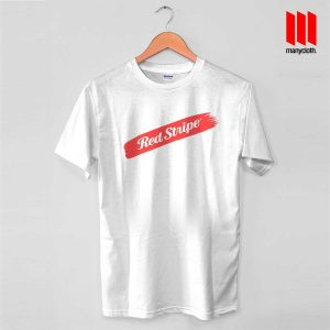 Red Stripe Swash T Shirt is the best and cheap designs clothing for gift