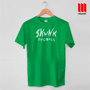 Skunk Records T Shirt is the best and cheap designs clothing for gift