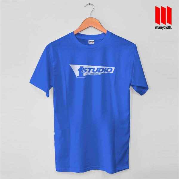 Studio One Blue T Shirt 600x600 Studio One Records T Shirt