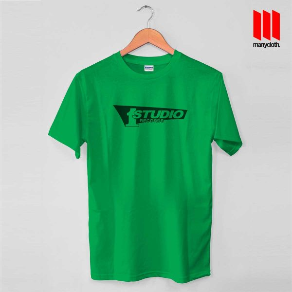 Studio One Green T Shirt 600x600 Studio One Records T Shirt