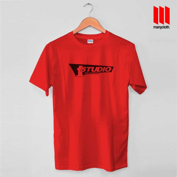 Studio One Red T Shirt 600x600 Studio One Records T Shirt