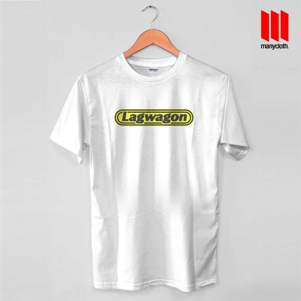 Lagwagon Logo White T Shirt 600x600 Goleta's Punk Rock Band T Shirt