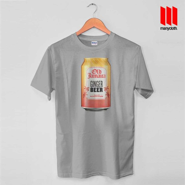 Old Jamaica Gingger Beer Grey T Shirt 600x600 Old Jamaica Ginger Beer T Shirt