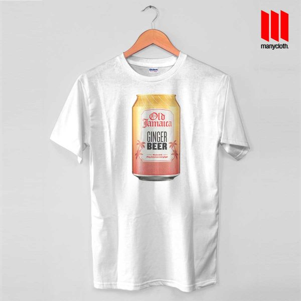 Old Jamaica Gingger Beer White T Shirt 600x600 Old Jamaica Ginger Beer T Shirt
