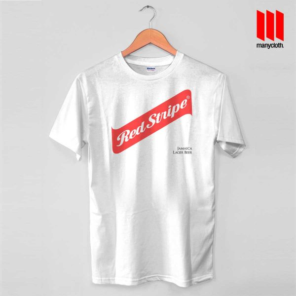 Red Stripe Jamaican Lager Beer White T Shirt 600x600 Red Stripe Jamaican Lager Beer T Shirt
