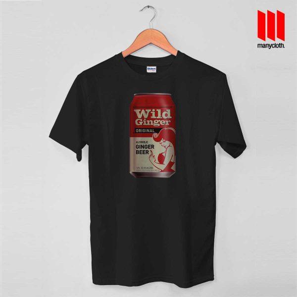 Wild Ginger Beer Black T Shirt 600x600 Wild Ginger Beer T Shirt