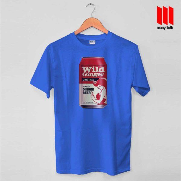 Wild Ginger Beer Blue T Shirt 600x600 Wild Ginger Beer T Shirt
