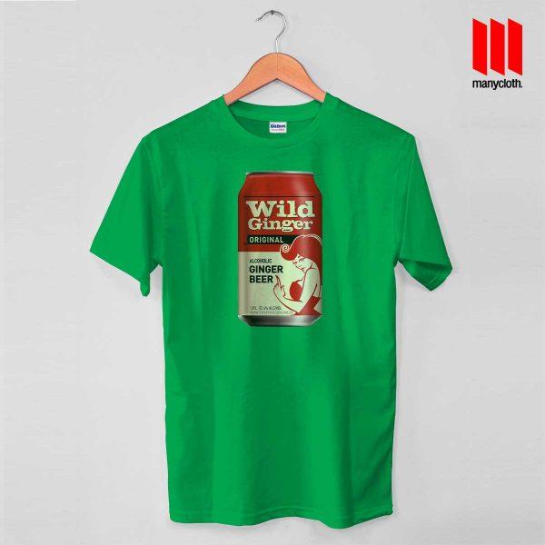 Wild Ginger Beer Green T Shirt 600x600 Wild Ginger Beer T Shirt