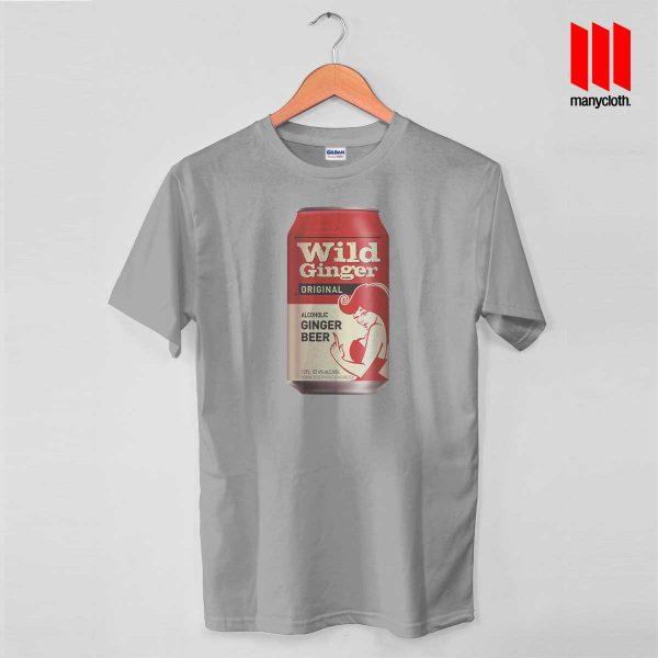 Wild Ginger Beer Grey T Shirt 600x600 Wild Ginger Beer T Shirt