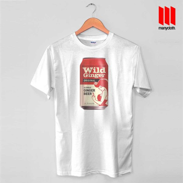 Wild Ginger Beer White T Shirt 600x600 Wild Ginger Beer T Shirt