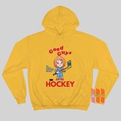 Chucky Good Guy I Am A Good Guy Let's Play Hockey Hoodie
