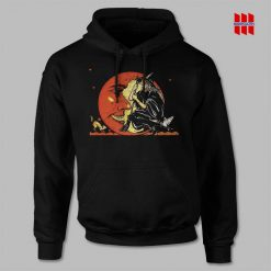 Great Vintage Witch and Moon Halloween Hoodie