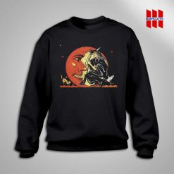 Great Vintage Witch and Moon Halloween Sweatshirt