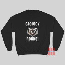 Raccoon Geology Rocks Sweatshirt