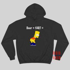 Beer Plus Fart Hoodie Bart Simpson