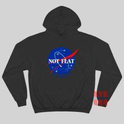 NASA Logo Not Flat We Checked Hoodie