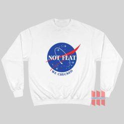NASA Logo Not Flat We Checked Sweatshirt